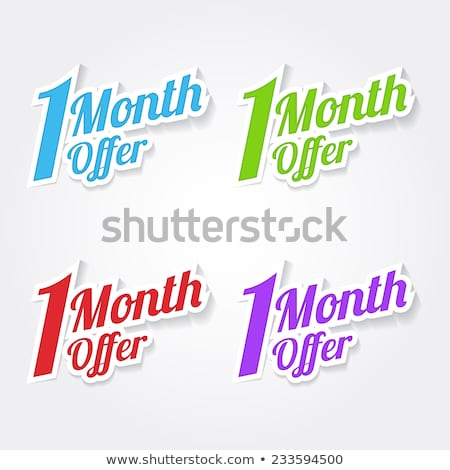 1 month offer blue vector icon design stock photo © rizwanali3d