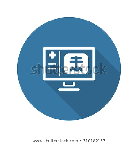 Radiology and Medical Services Icon. Flat Design. Long Shadow. Stock photo © WaD