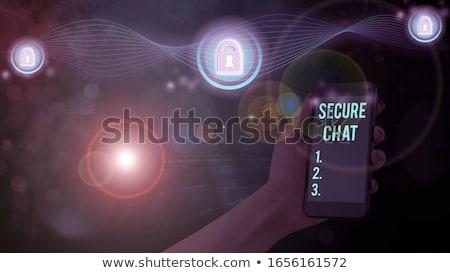 Confidencial mensaje café papel madera seguridad Foto stock © fuzzbones0