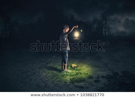 Befejezés sötétség fény alagút halál tégla Stock fotó © giko