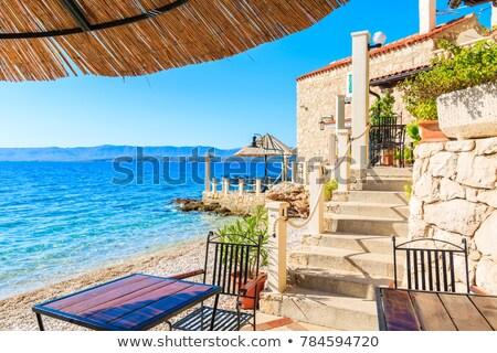 Spiaggia ciottoli mediterraneo mare spazio Foto d'archivio © digoarpi