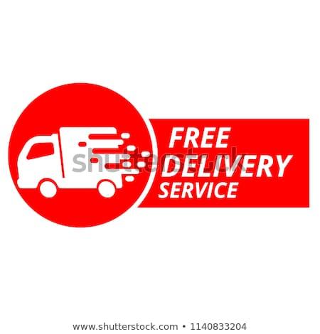 free shipping pink vector button icon stock photo © rizwanali3d