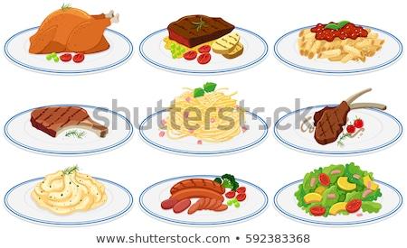 Mashed potato and roasted sausage Stock photo © Digifoodstock