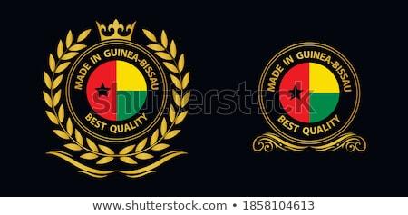 Guinea vidék zászló térkép forma szöveg Stock fotó © tony4urban