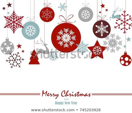 Türkis Weihnachten Spielerei weiß Baum ein Stock foto © frannyanne