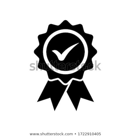 Stok fotoğraf: Rozet · ikon · dizayn · şerit · kazanan