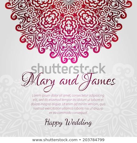 Vintage argent invitation de mariage couvrir dentelle décoration Photo stock © liliwhite