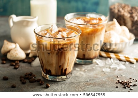 iced mocha coffee in glass on the table stock photo © punsayaporn