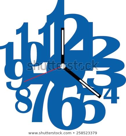 Square blue clock vector illustration Stock photo © ayaxmr