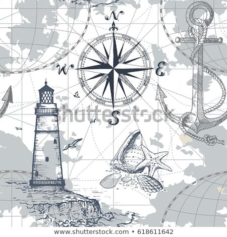 пиратских · коллекция · 10 · белый · карта · золото - Сток-фото © netkov1