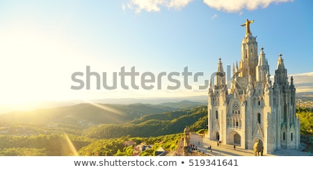 jesus christ statue at barcelona cathedral stock photo © magraphics