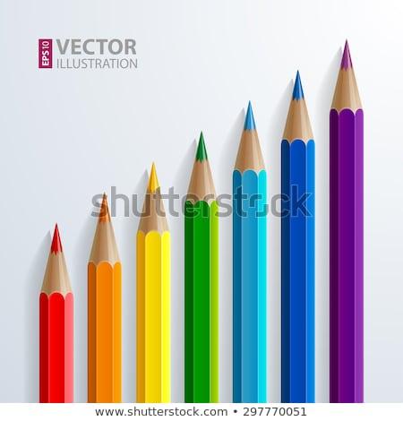 Színes zsírkréták eps 10 vektor akta Stock fotó © beholdereye