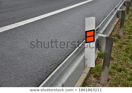 автомобилей за знак белый Сток-фото © DedMorozz