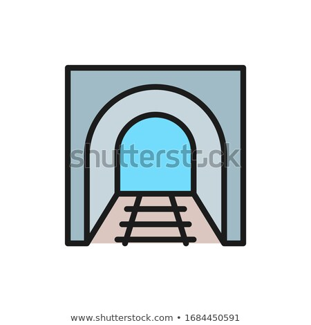 railway tunnel line icon stock photo © rastudio