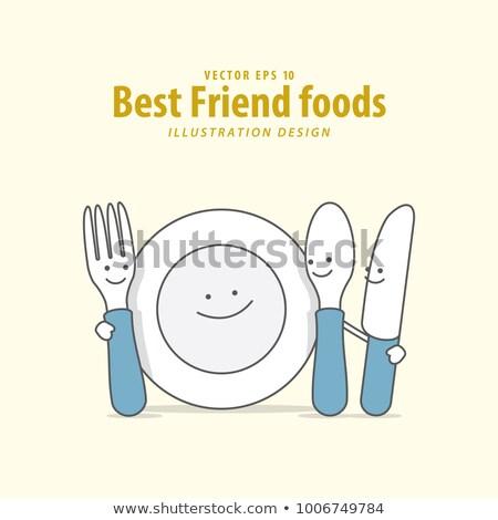 実例 家族 レストラン フォーク ナイフ 女性 ストックフォト © gigra