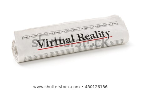 Roulé journal titre réalité ordinateur Photo stock © Zerbor