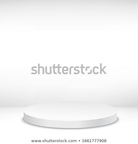 Vide podium escaliers or argent bronze Photo stock © pakete
