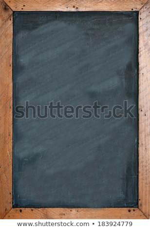Rústico marco de madera negro pizarra espacio de la copia Servicio Foto stock © stevanovicigor