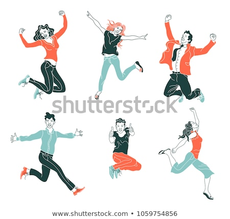 A sketch of an energetic girl Stock photo © bluering