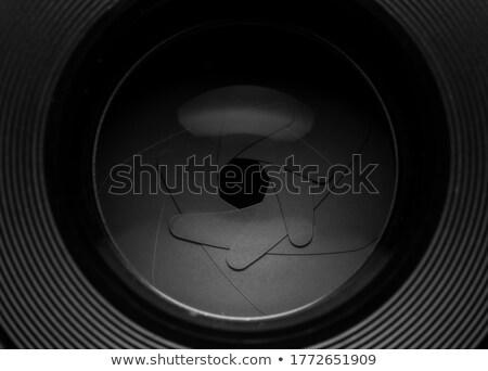 profesyonel · fotoğraf · objektif · kapak · yalıtılmış · beyaz - stok fotoğraf © zurijeta