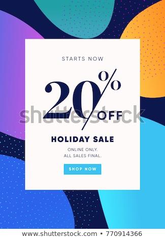 20 financière vente nombre acheter face Photo stock © dzsolli