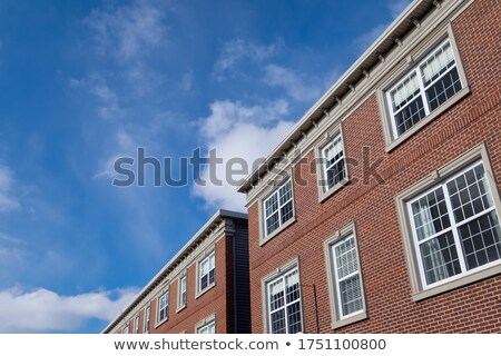 A closed window with a view of the stonewall Stock photo © bluering