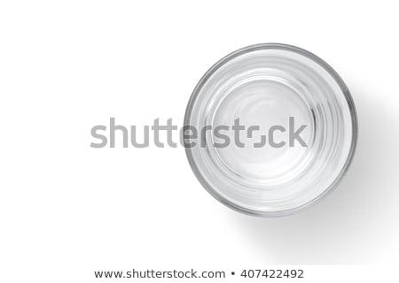Boş cam fincan su yalıtılmış beyaz Stok fotoğraf © orensila