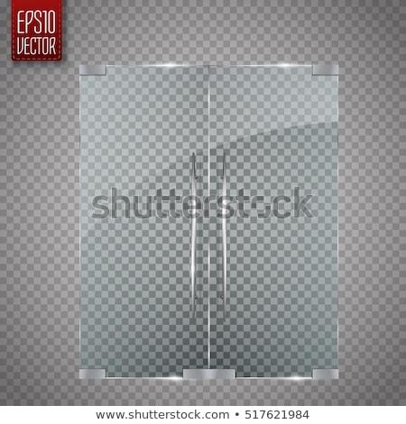 Interrupteur de lumière argent verre cadre mur énergie Photo stock © tarczas