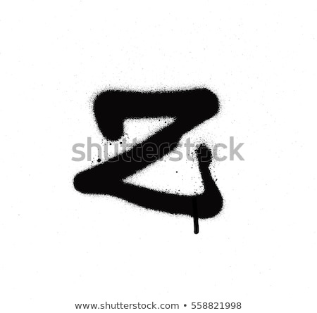 Chrzcielnica graffiti czarno białe sztuki podpisania Zdjęcia stock © Melvin07