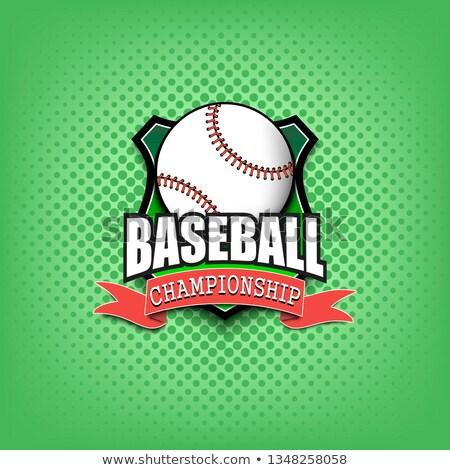 béisbol · deportes · liga · bordado · diseno - foto stock © m_pavlov