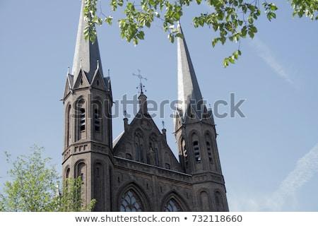 bazilika · Mesih · haç · vitray · kilise · Hollanda - stok fotoğraf © billperry