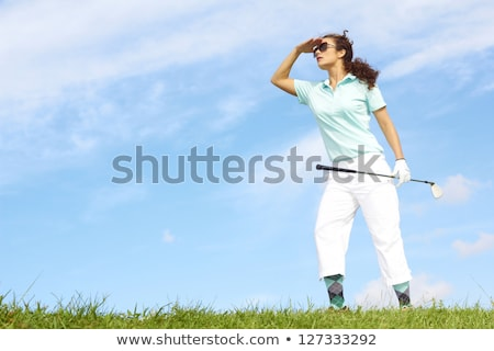 Pink golf ball against blue sky Stock photo © njnightsky
