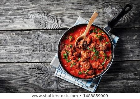 Sığır eti güveç gıda arka plan akşam yemeği et öğle yemeği Stok fotoğraf © M-studio