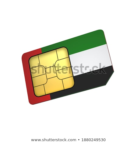 Arab mobiele exploitant kaart vlag abstract Stockfoto © Leo_Edition