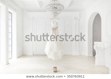 Wedding dress hanging in hanger Stock photo © wavebreak_media