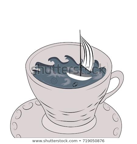 theepot · tornado · water · transparant · glas - stockfoto © fisher