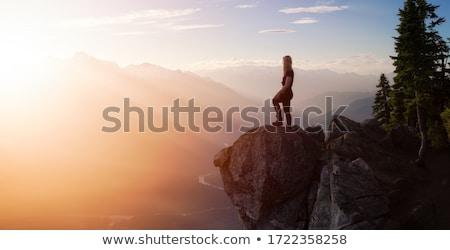Hegy felső panoráma Nevada hegyek Kalifornia Stock fotó © pancaketom