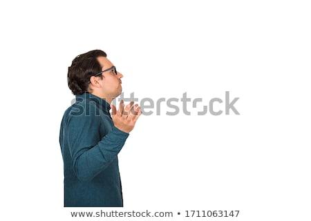 Caucásico confundirse empresario armas signos de interrogación Foto stock © RAStudio