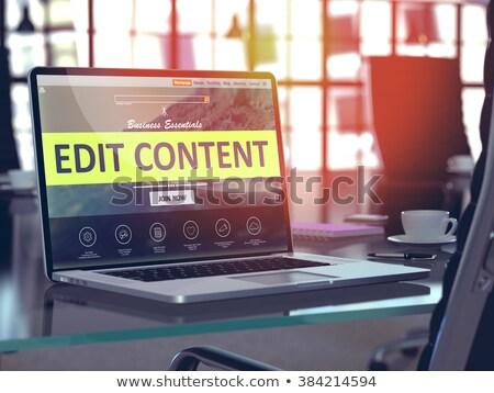 Landing Page of Laptop with Edit Content Concept. 3D. Stock photo © tashatuvango