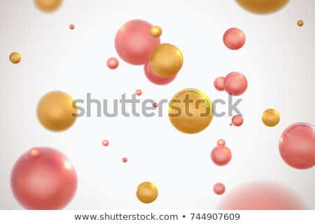 Biochemistry and atom, bright modern chemical concept Stock photo © JanPietruszka