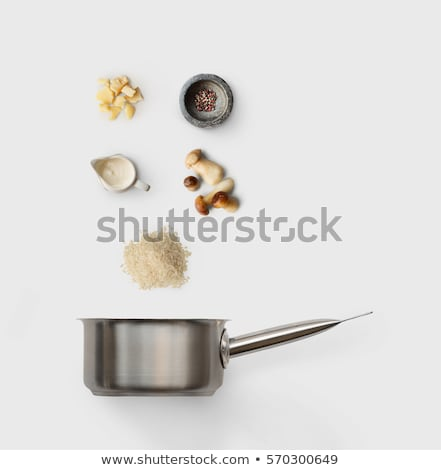 Stock photo: saucepan of wild rice