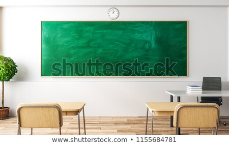 trainings concept on black chalkboard 3d rendering stock photo © tashatuvango