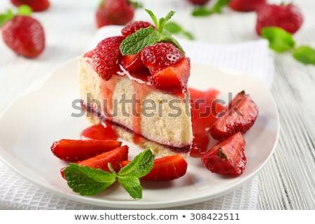 Cheesecake dessert fatto in casa no bake Foto d'archivio © mpessaris
