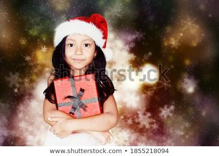 meisje · telefoon · woonkamer · moeder · familie · papier - stockfoto © deandrobot