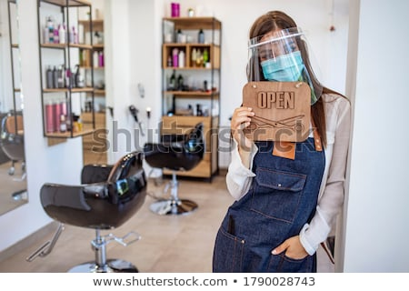 Hairdresser Hair Salon Scissors Woman Concept Stock photo © Krisdog
