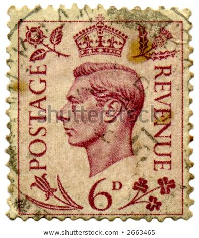 King George vintage stamps Stock photo © FER737NG