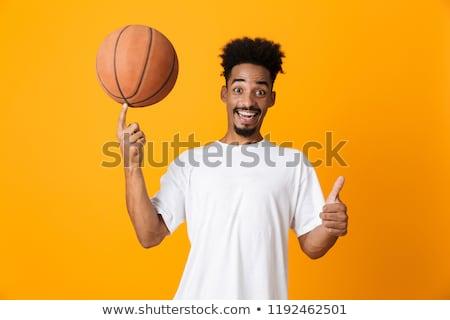 Сток-фото: африканских · мальчика · баскетбол · мяча · пальца · молодые
