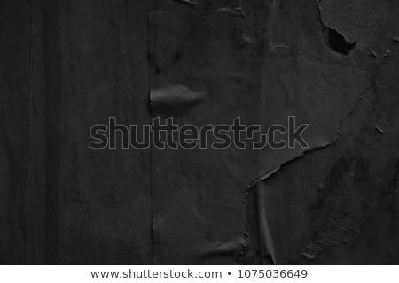 crumpled black paper stock photo © adamson