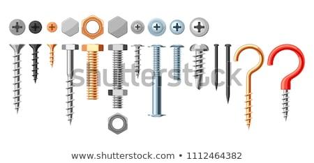 Metaal ingesteld iconen zilver Stockfoto © studioworkstock