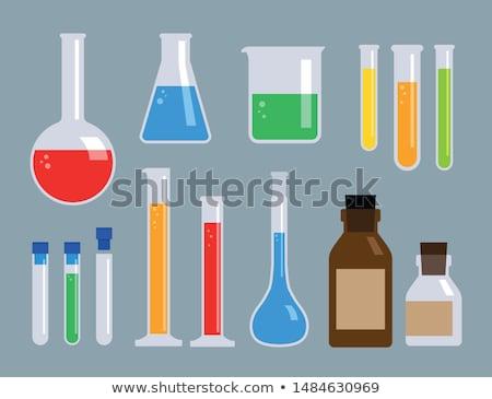 Beakers of liquid in factory Stock photo © IS2